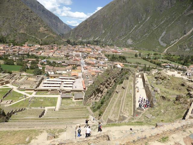 Ollantaytambo, vista del pueblo