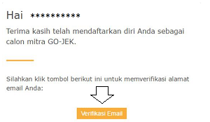 Verifikasi Cara Daftar GOJEK Bandung
