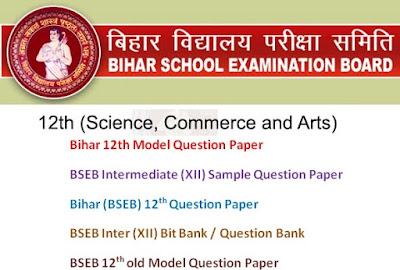 BSEB Intermediate (12th) Model Question Papers 2017 Blueprint