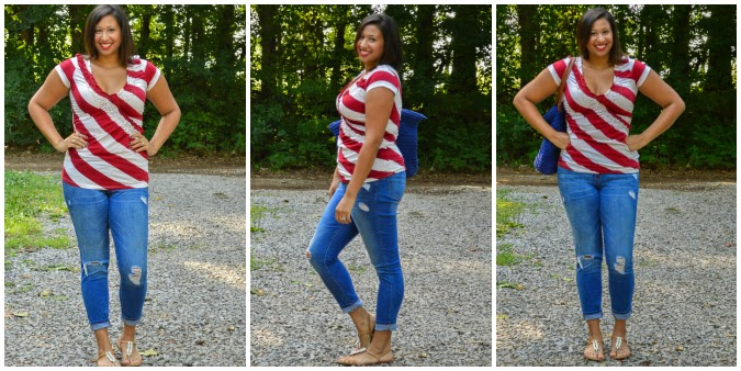 Independence Day red white and blue outfit