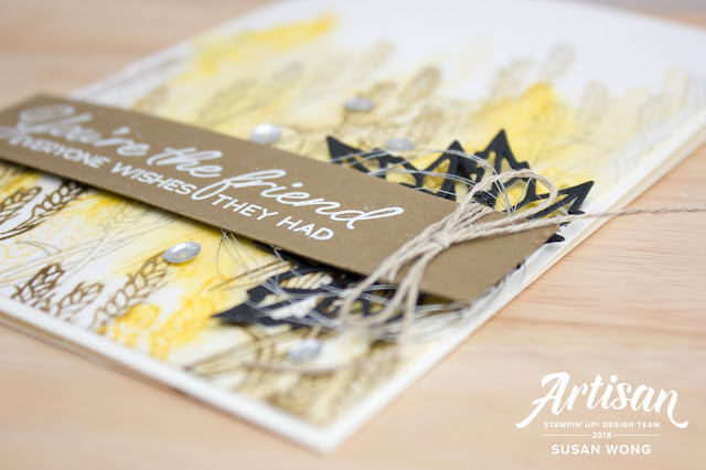 Stampin' Up! Color Your Season / Blended Seasons - Watercolor background card by Susan Wong, Artisan Design Team Member