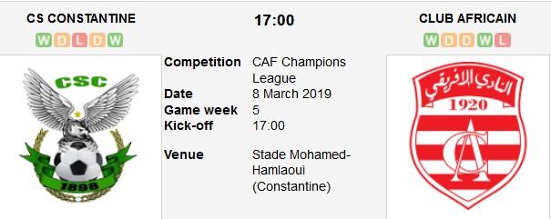 constantine vs club africain live