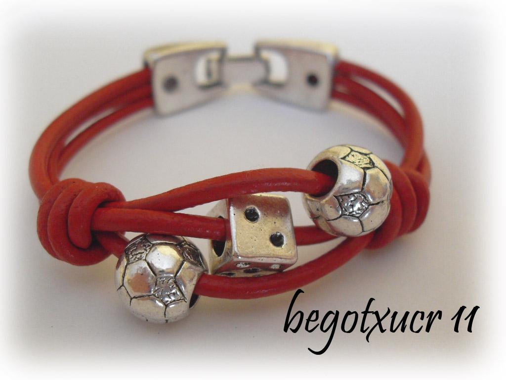 2d255d08b3fc Pulsera Pandora Cuero Rojo