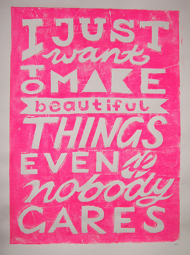 Make Beautiful Things Print on Flickr: Katrin Eiermann