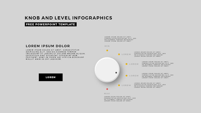 Free Infographic PowerPoint Templates with Knob and Business Level Slide 3
