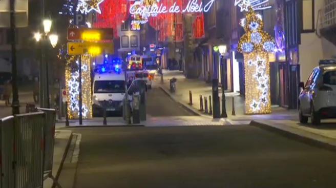 Strasbourg Christmas Market Shooting.Twilight Language Strasbourg Christmas Market Shooting
