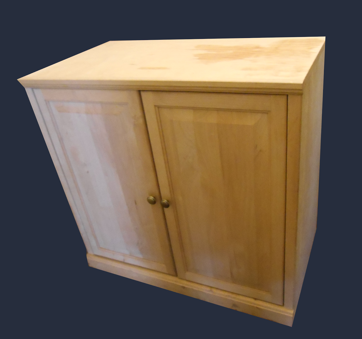 Unfinished Pine Kitchen Cabinets: Uhuru Furniture & Collectibles: Low Cabinet Unfinished