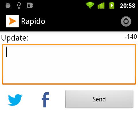 Rapido Main Screen