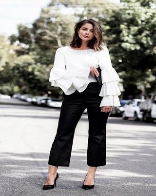 outfit elegante blanco y negro