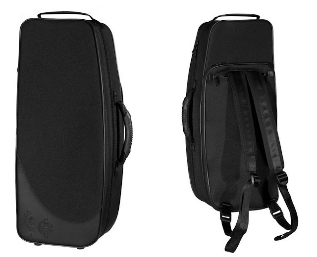 SeleS Axos Alto Saxophone Case, Front and Back
