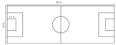 ukuran lapangan sepak bola lengkap