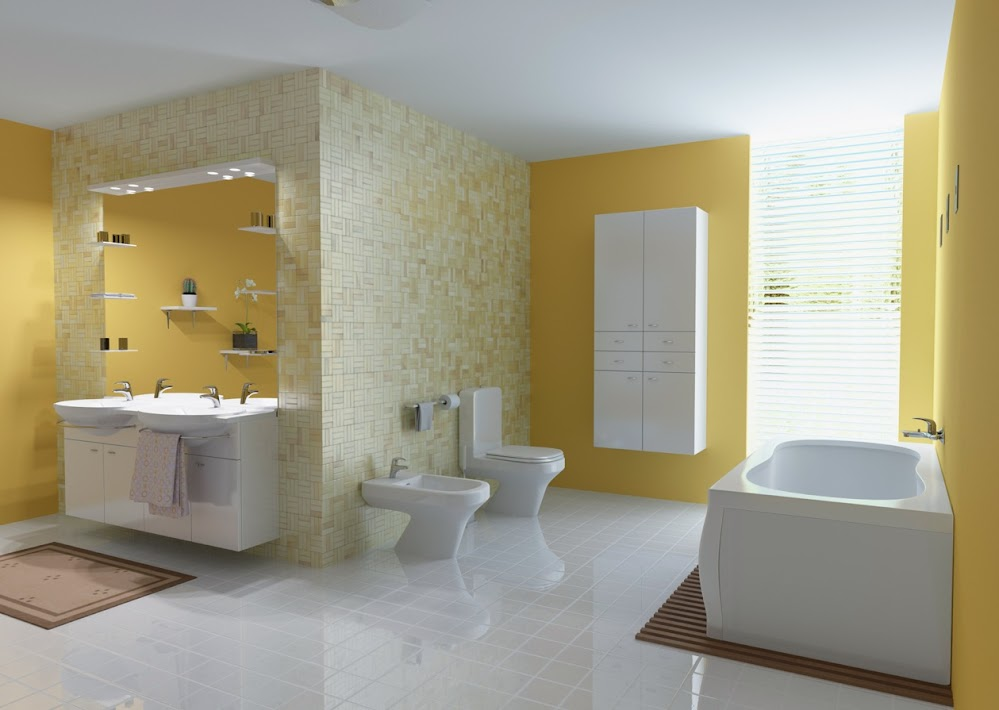 Yellow-Bathroom