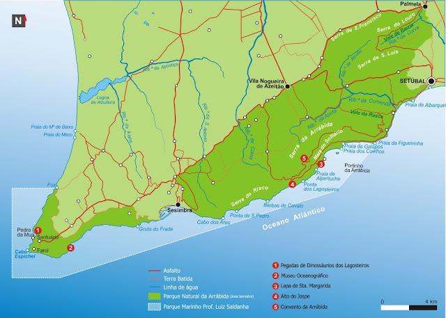 mapa Gruta da Lapa de Santa Margarida