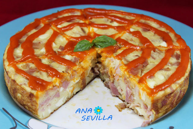 Pastel de queso de Burgos y jamón olla GM Ana Sevilla
