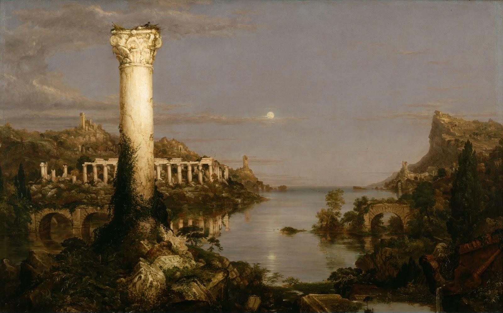 Thomas Cole The Course of Empire Desolation  New York Historical Society