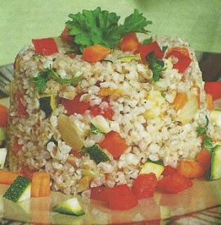 Рецепт разноцветного риса с овощами