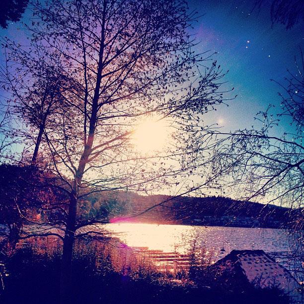 lake arrowhead near sunset