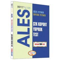 Yediiklim ALES Sayısal Sözel Yetenek Çek Kopart Yaprak Test (2017)