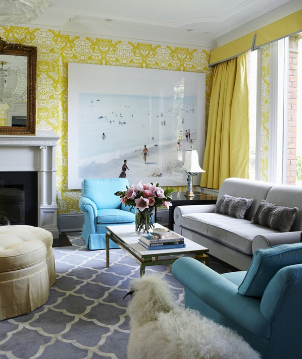 Adore this sophisticated mix of aqua and yellow found on the lennoxx