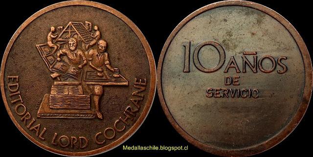 Medalla 10 años Editorial Lord Cochrane