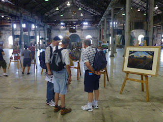 exhibition of paintings by Jane Bennett, industrial heritage artist at the Australian Technology Park Open Day, Eveleigh