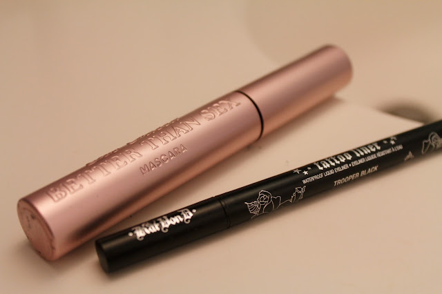 Too Faced Better Than Sex Mascara // Kat Von D Tattoo Liner