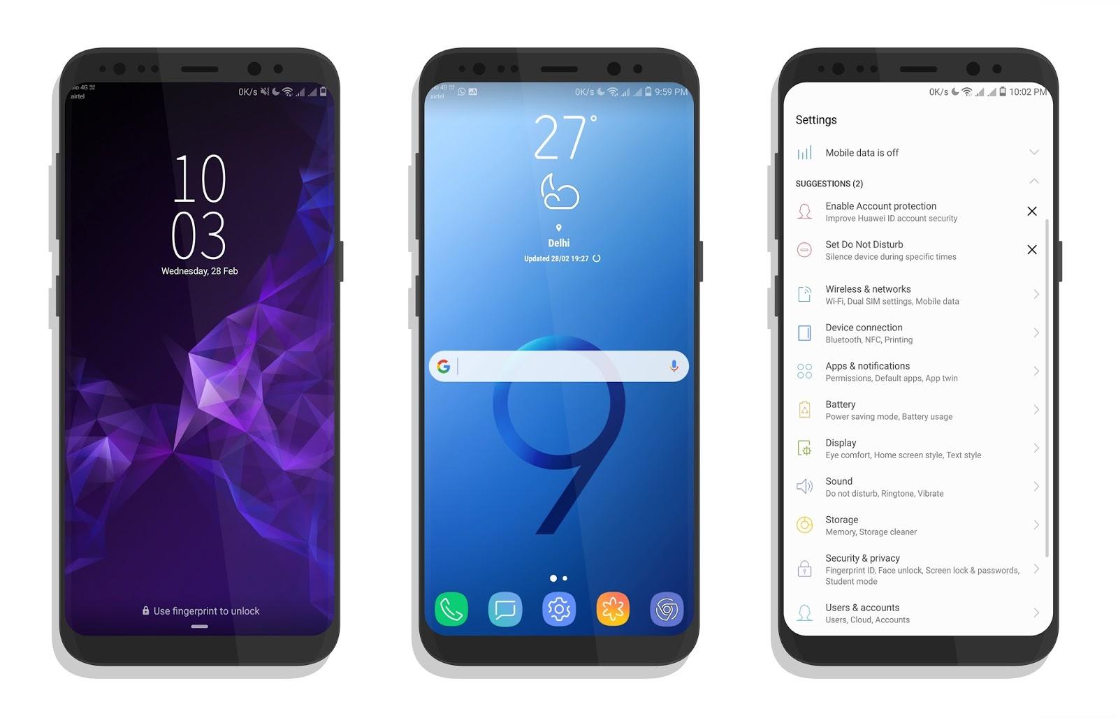 Huawei Theme: Samsung S9 theme - Papa Eathan