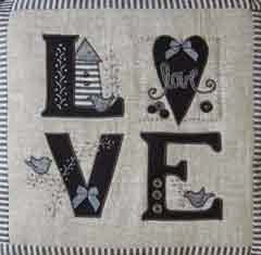 Love quilt + pattern, pillow cover