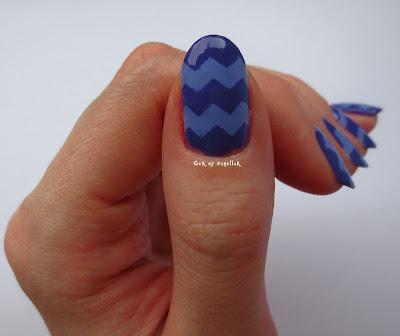 Gek Op Nagellak Paarse Zigzag Nail Art