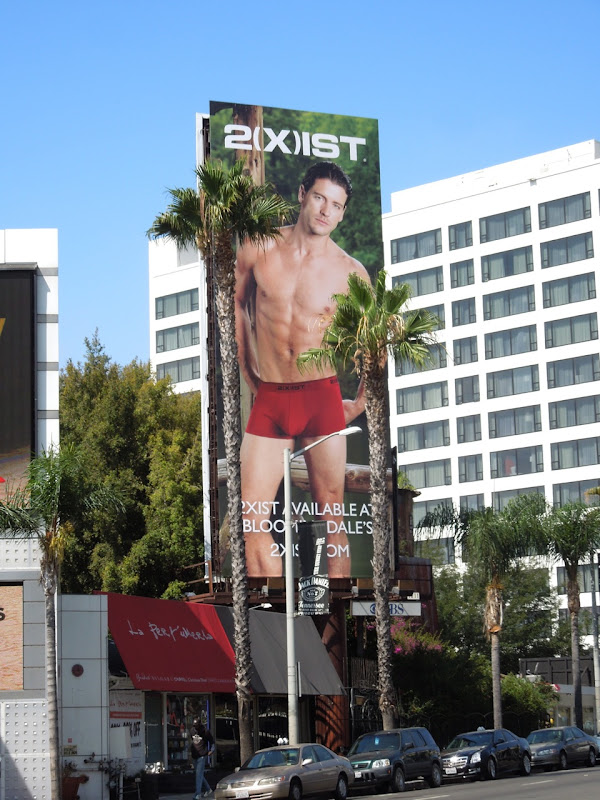 2xist male underwear model billboard