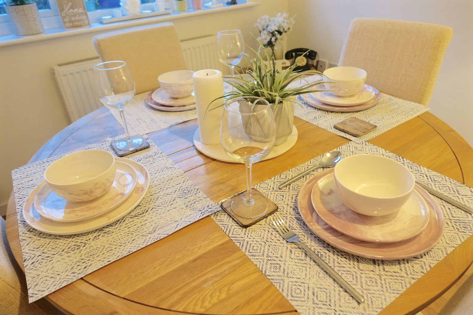 spring table settings with Amara Living