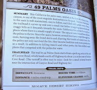 49 Palms Oasis hike description by James Kaiser, Joshua Tree National Park
