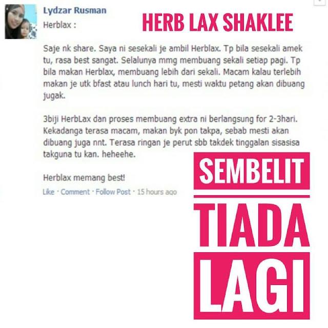 Testimoni Herb-Lax™ Suplimen Semulajadi Untuk Sembelit