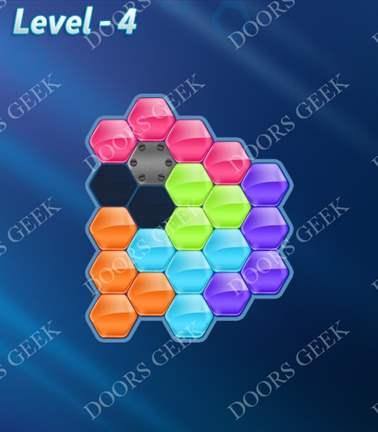 Block! Hexa Puzzle [Rainbow A] Level 4 Solution, Cheats, Walkthrough for android, iphone, ipad, ipod