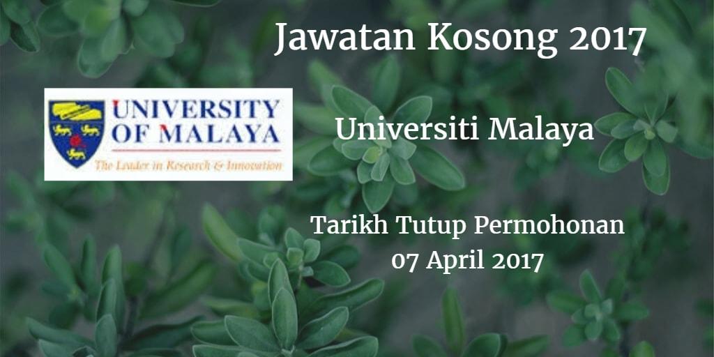 Jawatan Kosong UM 07 April 2017