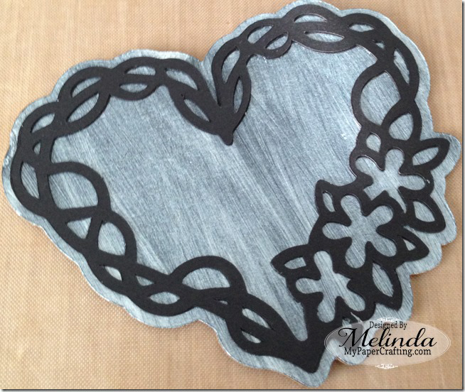SVG Heart Vine Silhouette Valentine Cut File