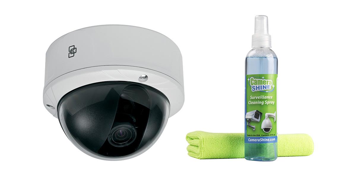 clean CCTV security cameras