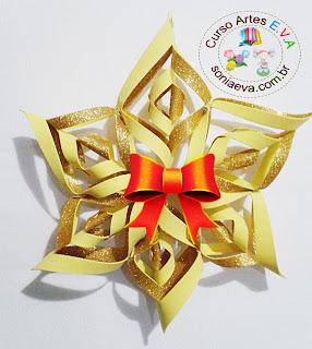 Estrela dourada em E.V.A