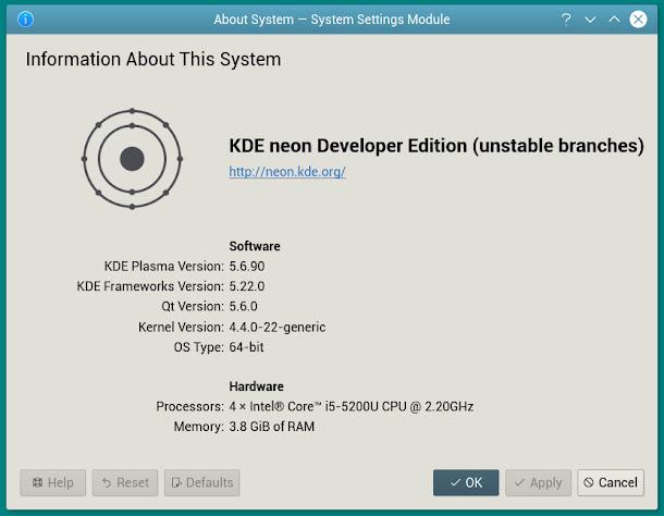 Linux Kubuntu 16.04に最新版のKDE環境をインストールしてみました