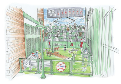 Home field for Arizona Diamondbacks to have pet friendly area.