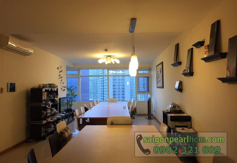 Cho thuê căn hộ Saigon Pearl tầng 33 tháp Topaz - tổng thể phòng khách