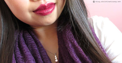 Lancome Pretty Burgundy Color Design Lipstick Makeup Fall Autumn Tutorial