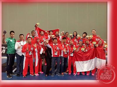 FOTO 1 : Tim Hoki Indoor Putri Indonesia Raih Perak di SEA Games 2017