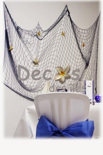 ma d coration de mariage d coration de mariage th me mer et nacre. Black Bedroom Furniture Sets. Home Design Ideas