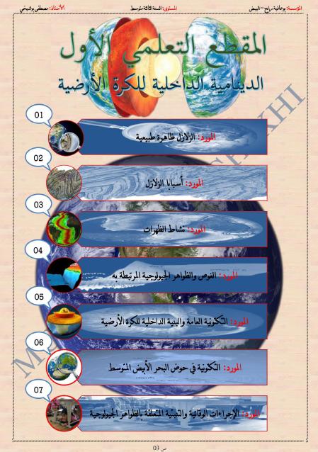 مذكرات مقطع الدينامية الداخلية للكرة الارضية الجيل الثاني للاستاذ مصطفى بوشيخي