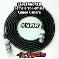 Kabel Mic XLR 4 Meter Female to Female Jack Canon Canare