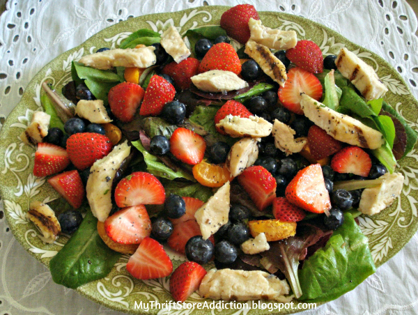 Panera inspired strawberry, poppy seed and chicken salad