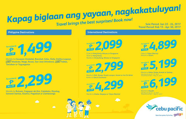 Cebu Pacific 2017 Seat Sale