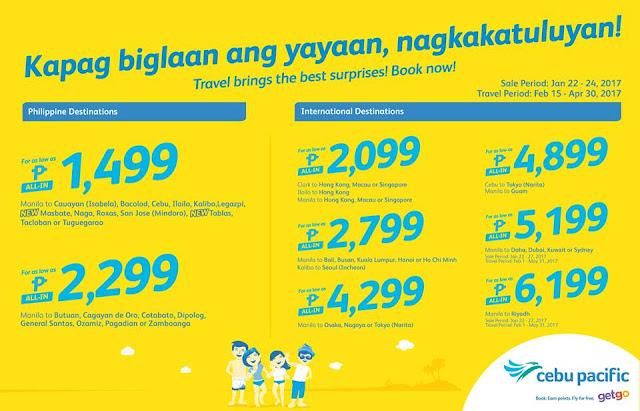Cebu Pacific 2017 Seat Sale