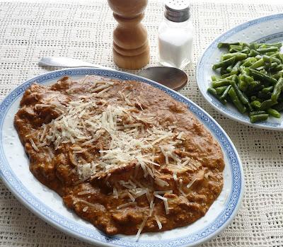 Chicken In Goat Cheese, Mushroom, & Dried Tomato Sauce